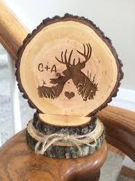 Rustic Wedding Cake Topper Deer Hunting Barn Custom