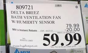 Humidity Sensing Bathroom Fan by Costco Sale Delta Breez Bath Ventilation System Fan Frugal Hotspot