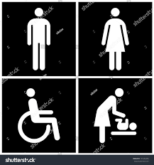 Printable Handicap Bathroom Signs by Toilet Sign Restroom Mother Room Disabled Stock Vector 171236426