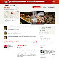Snapshot Yelp Business Listing