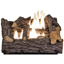 Gas Lamp Mantles Home Depot by Emberglow Savannah Oak 18 In Vent Free Propane Gas Fireplace Logs