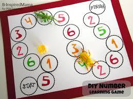 DIY Number Learning Game Via B Inspiredmama