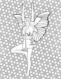 Yoga Fairy Coloring Book For Adults TREE POSE IN YOGA FAIRY COLORING BOOK FOR ADULTS