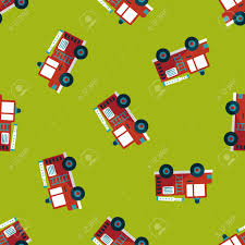 Transportation Fire Truck Flat Icon,eps10 Seamless Pattern ...