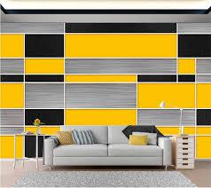 beibehang custom tapete 3d schwarz gelb grau geometrische