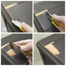 Birdseye Maple Veneer Dresser how to fix peeling or chipped veneer salvaged inspirations