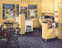 Chronically Vintage Cream And Blue 1930s Kitchen Shines With