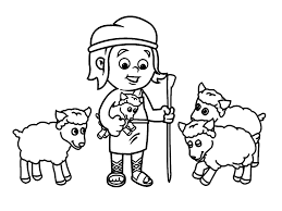 David And Goliath Coloring Pages Throughout