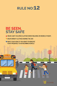 100 Safer Trucking Road Safety Rules RULE No12 Be Seen Stay Safe Road Safety