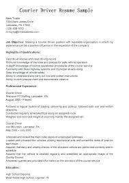 Free Sample Resume For Cdl Truck Driver Samples