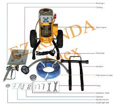 airless paint sprayer for ceilings portable hydraulic electric airless paint sprayer for ceiling