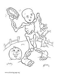 Halloween Skeleton Coloring Page