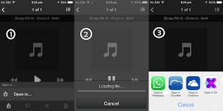 How to Send Music Files via Whatsapp from iPhone Running iOS 7