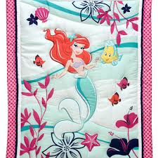 the little mermaid ariel sea treasures 3 piece crib bedding set