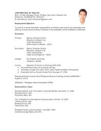 Example Of Work Experience On Resume Sample No Job In Student Resumes