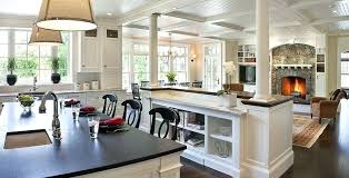 Open Kitchen Living Room Plan Small House