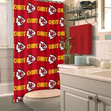 Small Bathroom Window Curtains Amazon by Amazon Com Kansas City Chiefs Nfl Shower Curtain Home U0026 Kitchen