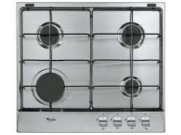 plaque cuisine gaz table de cuisson gaz 4 foyers whirlpool akr331ix whirlpool vente