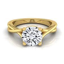 14k Yellow Gold 12ct TDW White Diamond Trellis Basket Solitaire Engagement Ring