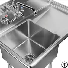 Utility Sink With Drainboard Freestanding by Kitchen Single Bowl Laundry Sink Vessel Sinks Porcelain Slop