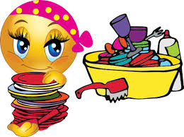 Jpg Freeuse Download Girl Washing Dishes Clipart Smiley Emoticon I Royalty