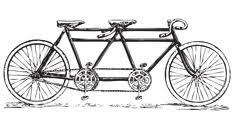 Free Vintage Tandem Bicycle Clip Art Built For 2