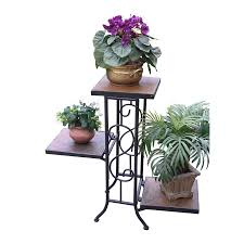 4D Concepts 224 In Antique Tuscany Indoor Outdoor Rectangular Slate Plant Stand