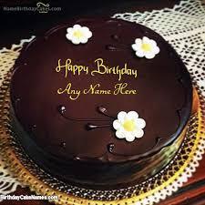 Write Name on Amazing Chocolate Birthday Cake With Name with Name