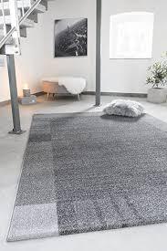 andiamo teppich le havre wohnzimmer schlafzimmer flur essbereich 100 polypropylen umkettelt 200 x 290 cm grau