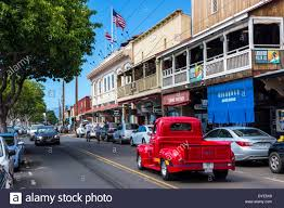 100 Truck For Sale On Maui Vintage Customized Red Pickup Truck Cruising On Front Street In