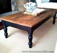 How To Build Wooden End Table by Diy Farmhouse Coffee Table Makeover I Could Do This With The