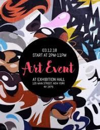 Customizable Design Templates For Art Exhibition