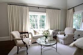 modern curtain rods Bedroom Traditional with area rug curtains