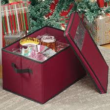 Christmas Tree Storage Tote With Wheels by Ornament Storage Boxes And Organizers Organize It