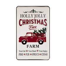 100 Sign Truck Glitzhome 2362 In H Christmas Farmhouse Enamel Metal