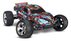 Traxxas - Rustler 1/10 Stadium Truck, Hawaiian Edition, RTR W/ ID ...