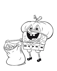 Nickelodeon Halloween Coloring Pages For Kids 595x