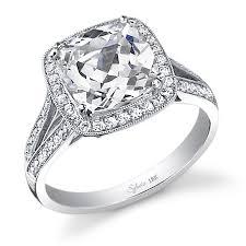 Elegant Vintage Cushion Cut Diamond Rings