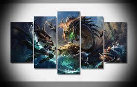 5 Panel Strike League Of Legends Canvas Wall Art