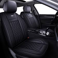 100 Car Seat In Truck LUCKYMAN CLUB 5 Covers Full Set With Waterproof Leather Universal For Sedan SUV Fit For Most Hyundai Kia Honda Mazda Nissan Toyota