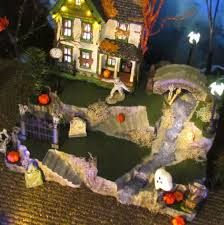 Lemax Halloween Village Displays by Halloween Village Creepy Creek Waterfall Display Base Platform