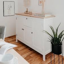 kommode sideboard bergus landhausstil weiß eiche artisan