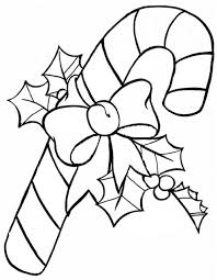 DLTKs Christmas Coloring Pages A Candy Cane