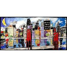 moderne bilder auf leinwand für wohnzimmer citycolor