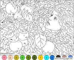 Difficult Coloring Pages With Numbers Az
