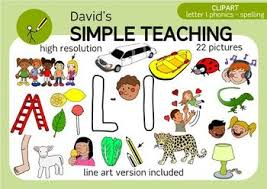 Letter L phonics spelling clipart with free preview