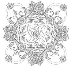 Paisley Mandala Coloring Pages Printable
