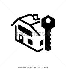 Home House Key Silhouette Real Estate Icon Flat And Isolated Design Vector Illustration