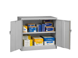 tennsco storage made easy jumbo counter high cabinet unassembled