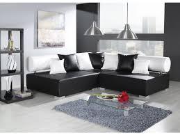canape simili cuir noir tetrys canapé d angle similicuir noir blanc degriffmeubles